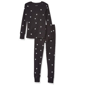 Kid's Pajama's Skull and Crossbones Black White